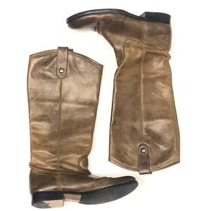 FRYE Brown Leather Tall Fall Boots #77167 Size 7.5